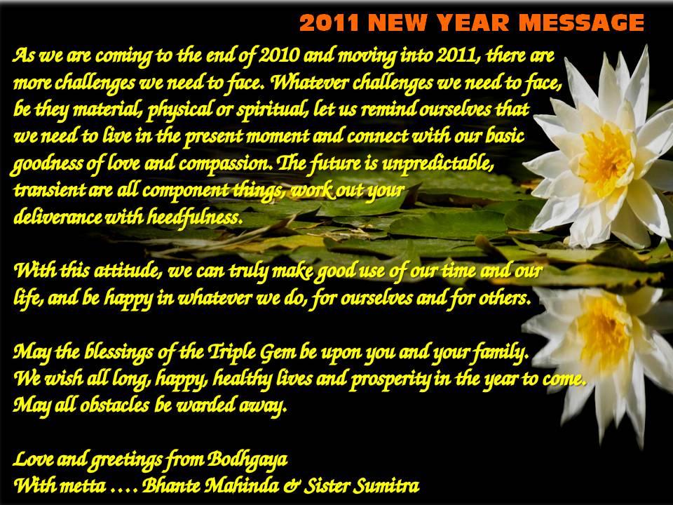 Aloka House Sabah: 2011 New Year Message