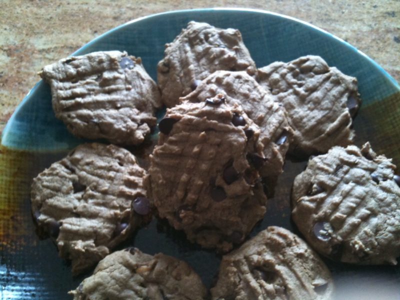Teff Peanut Butter Chocolate Chip Cookies