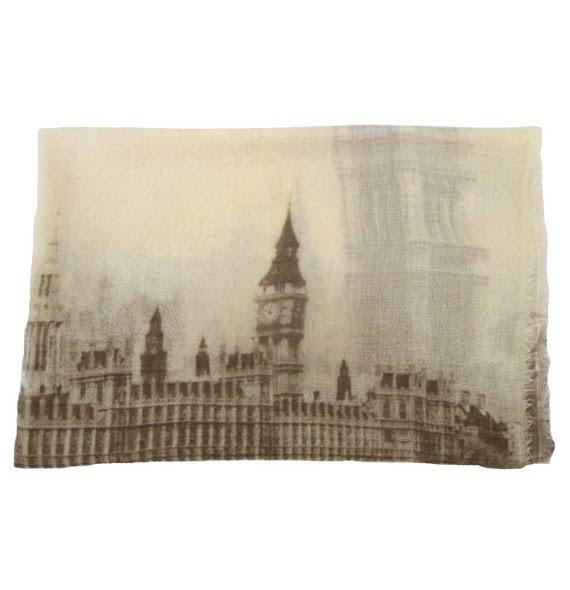 Folder Sepia London Cityscape Scarf