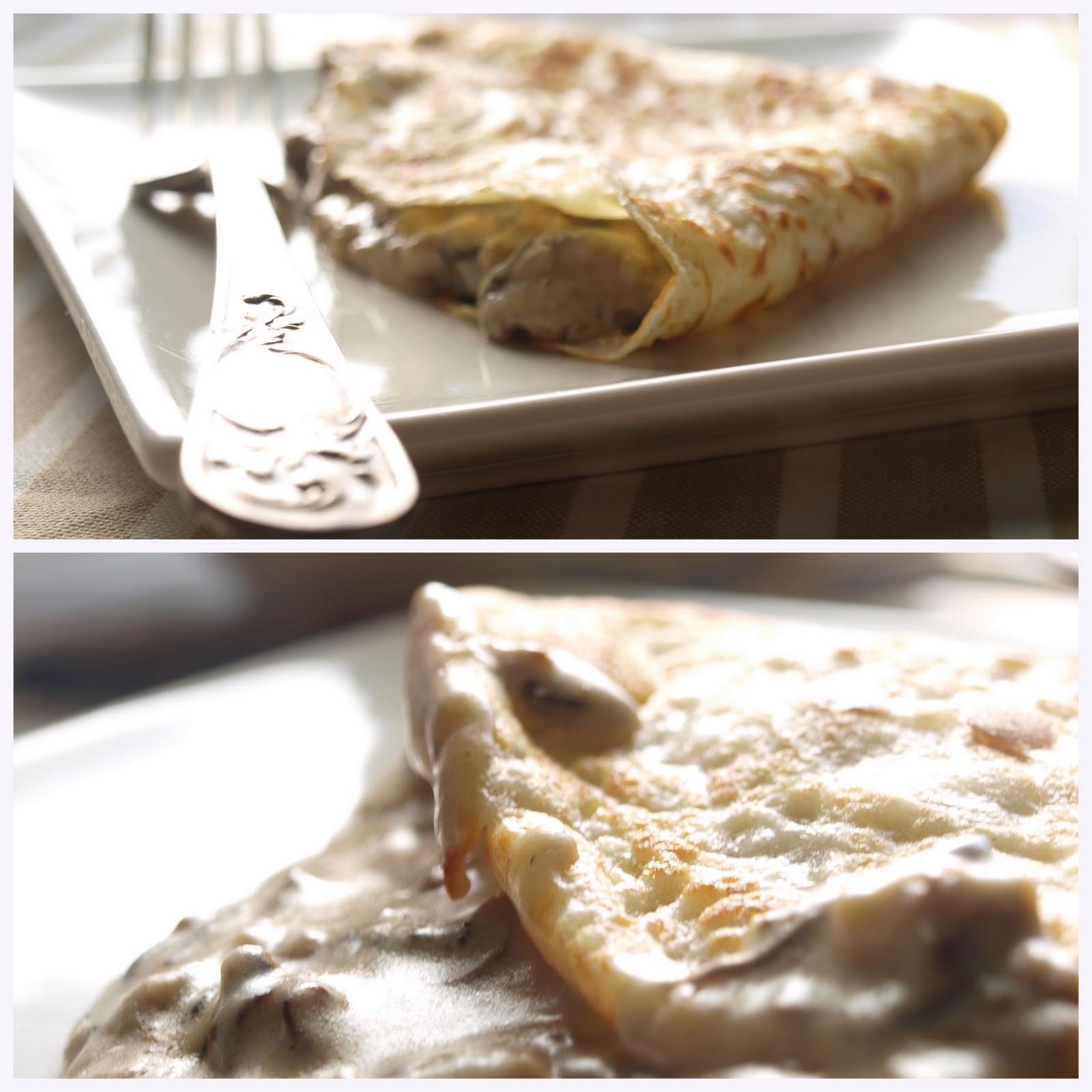 Bocados dulces y salados crepes de setas - Ingredientes para crepes ...