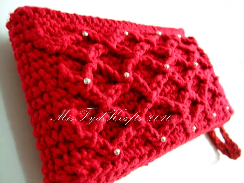 Crochet Clutch Purse Pattern Free : CROCHET CLUTCH PURSE How To Crochet
