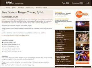 Ayliak - The Beautiful New Free Blogger Template