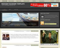 Mahusay Blogger Template Download