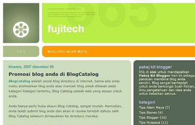 fujitech blogger business myspace malay