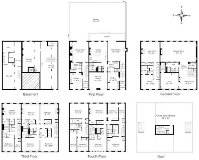 New york townhouse floor plans car interior design for 12000 sq ft house plans