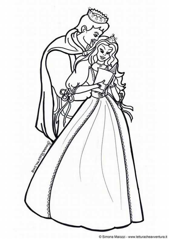 prince and princess coloring pages - photo#6