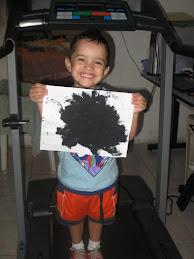 Joshua y su obra de arte
