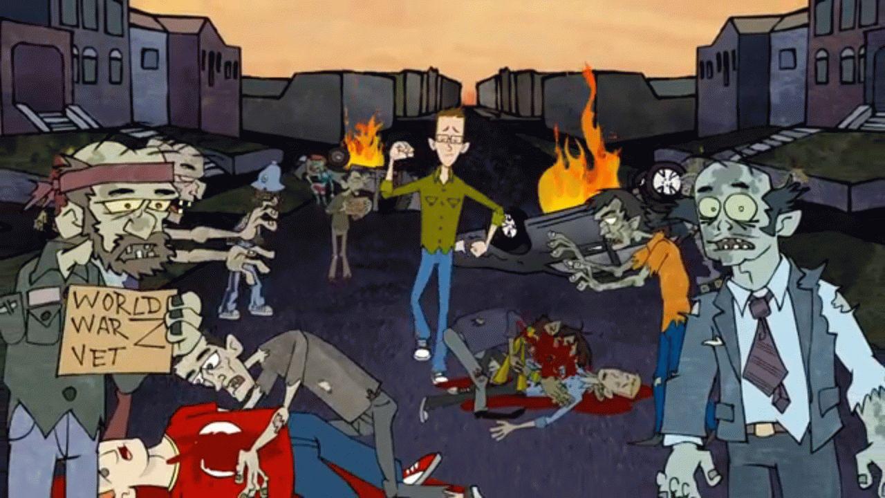 Zombie apocalypse un videoclip zombie a cartoni animati zombie