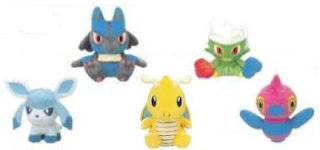 Pokemon Plush Dragonite Roserade Lucario Glaceon Porygon-Z Banpresto