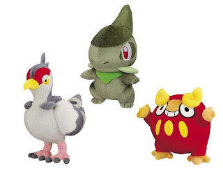 Pokemon BW Plush  Darumakka Kibako Hatobow Banpresto