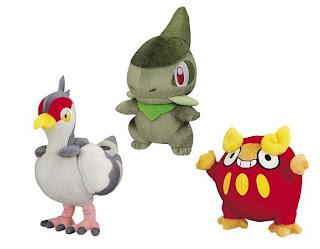 Pokemon BW Plush  Darumakka Kibako Hatobow Banpresto