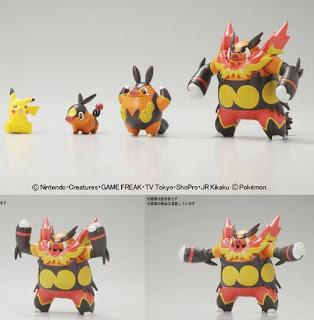 Pokemon Plamo Enbuo Evolution Set
