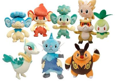 Pokemon Plush BW Oct 2010 Minezumi Youtery Yanappu Baoppu Hiyappu Churine Janoby Chaobuu Futachimaru PokeCenJP