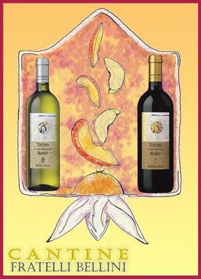 Sangria,mele,pesche,vino toscano bellini
