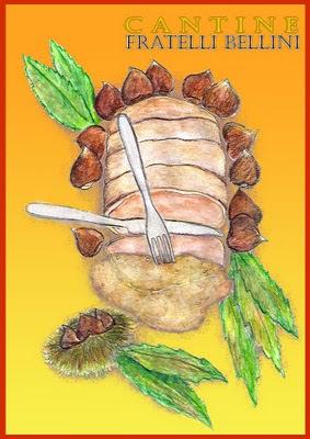 acquerello arista alle castagne sfiziose ricette cantine bellini