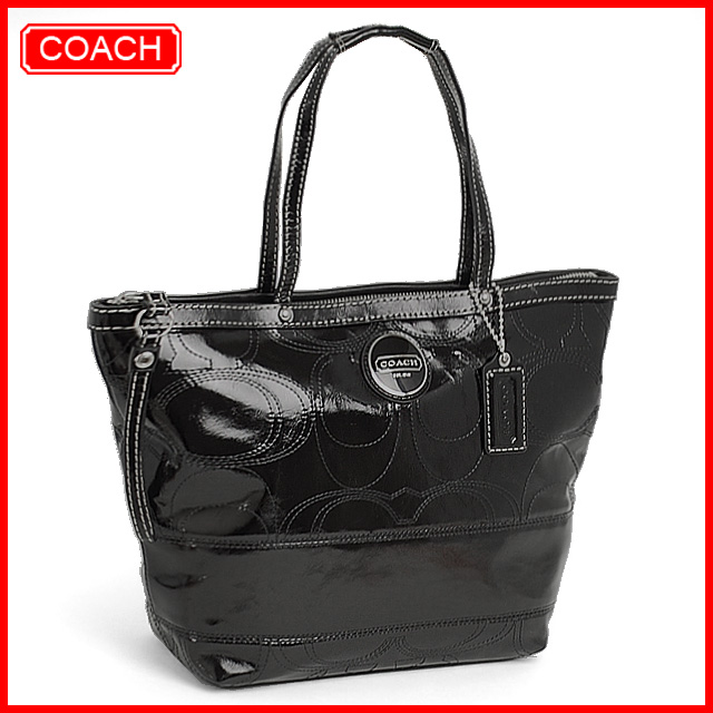 coach patent leather tote. COACH Signature Patent Leather