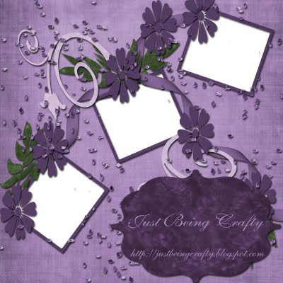 http://justbeingcrafty.blogspot.com/2009/08/purple-quick-page.html