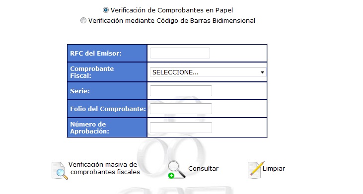 verificacion facturas: