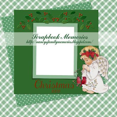 http://nancysmemoriesandscraps.blogspot.com/2009/11/christmas-angel-quick-page.html