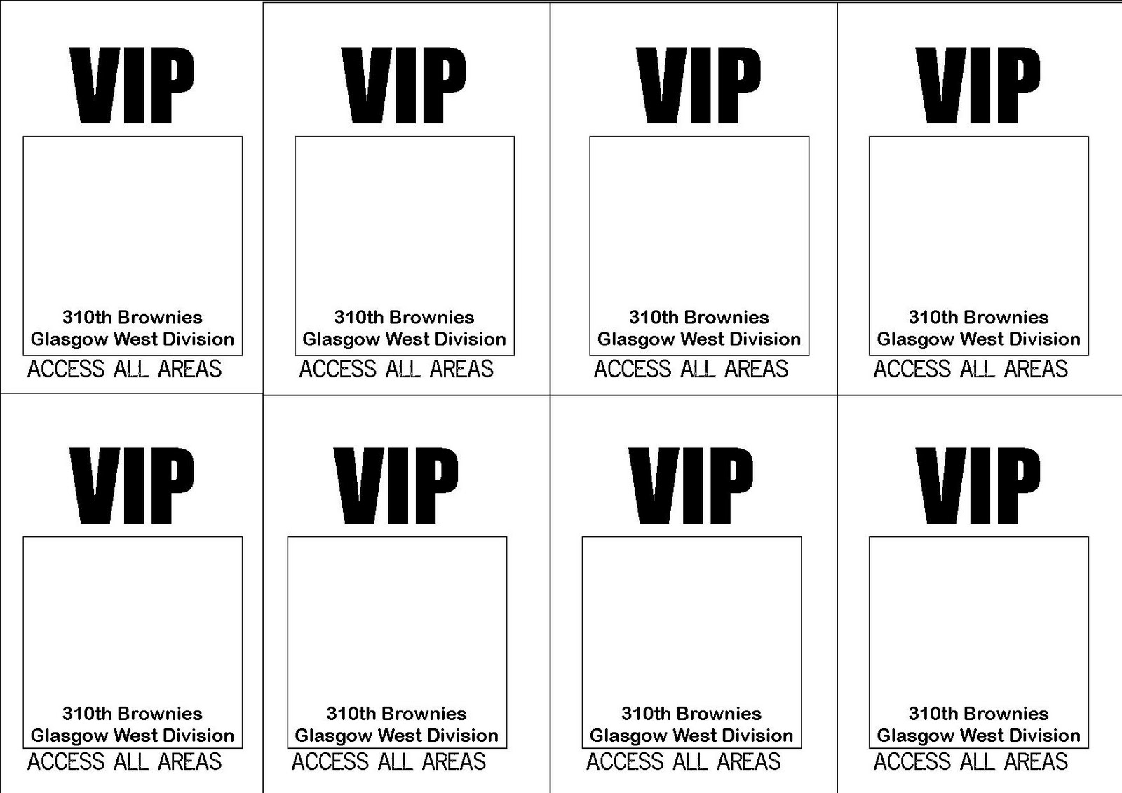 vip all access pass template free