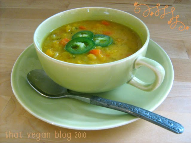 VeggieVores: vegan yellow split pea soup