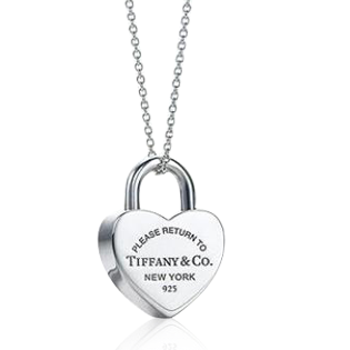 Tiffany Heart Lock Pendant