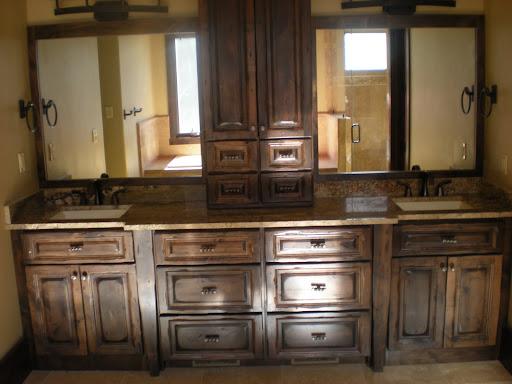 Degroff custom woodworking for Bathroom vanity upper cabinets