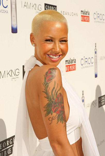 amber rose fat pictures. amber rose long hair.