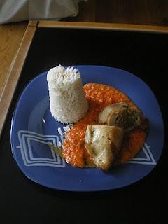 Cuixes de pollastre farcides amb verdures