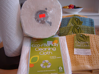 $2.99 paper towel roll and new eco-friendly reusable cloth replacements