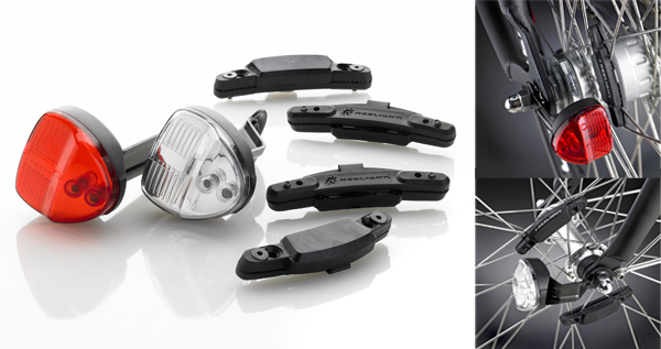 Reelight Flashing Compact Generator Bicycle Headlight and Tail Light Set