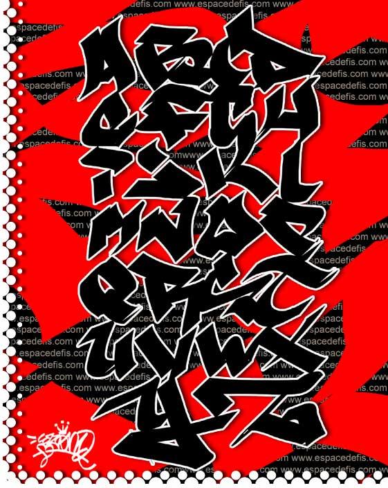 Sample Graffiti Alphabet Letters A