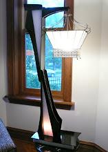 Handmade Plexi lamp.