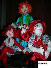 bez bebeklerim/ some of my cloth dolls
