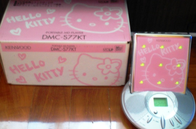 hello kitty kenwood portable md player