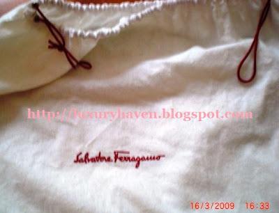 authentic ferragamo dust bag