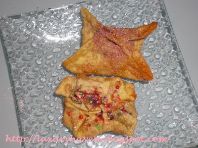 melty kiss chocolates, banana recipe, desserts, wonton