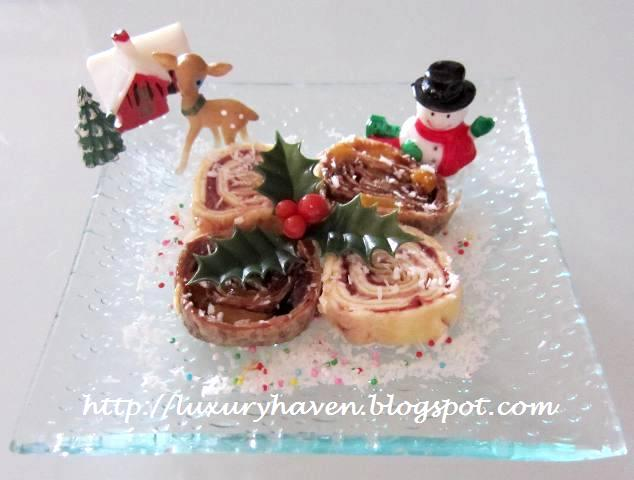 christmas fruity tuttie pinwheels desserts