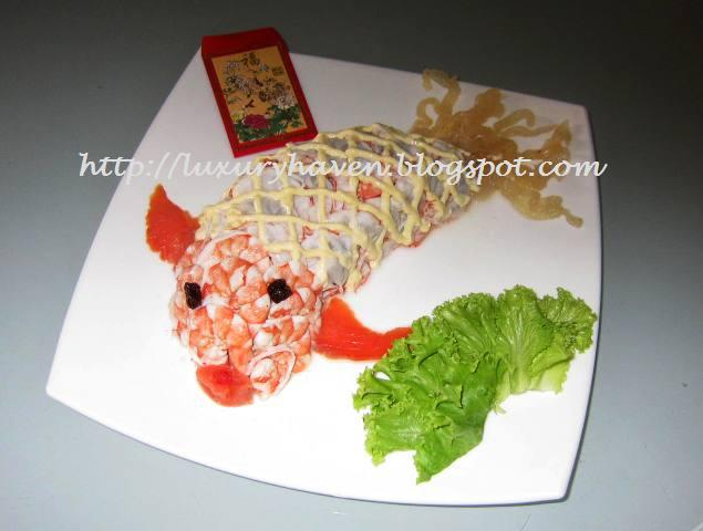 how to make cny lovely goldfish salad recipe