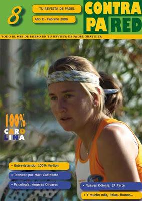 Portada Revista digital sobre pádel Contrapared