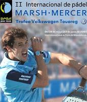 Cartel del Internacional de Pádel MARSH-MERCER Trofeo Volkswagen Touareg