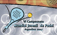 Cartel mundial de pádel juvenil Argentina 2007
