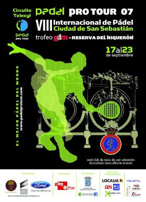 Cartel torneo Padel Pro Tour Ciudad de San Sebastián