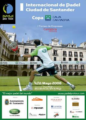 Cartel del I Internacional Padel Ciudad de Santander
