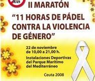 cartel II Maratón de pádel contra la violencia de género