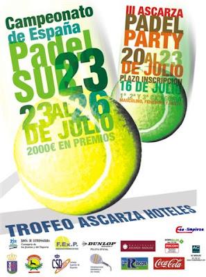 Cartel del Campeonato España padel SUB-23