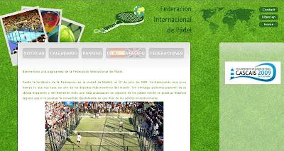 Web Federación Internacional de Pádel