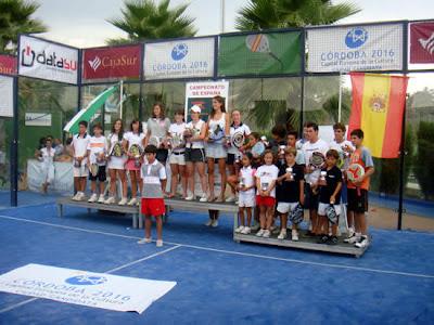 Podium del Campeonato de España de Menores 2009