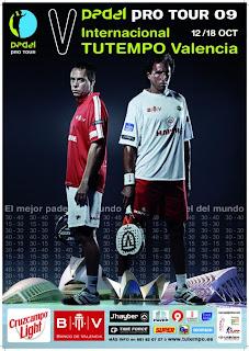 Cartel Internacionales Padel Valencia