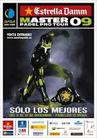 Cartel del Master de Padel 2009